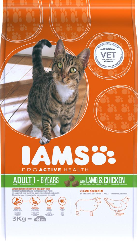 Iams Proactive Health Adult Lamb & Chicken Cat Food