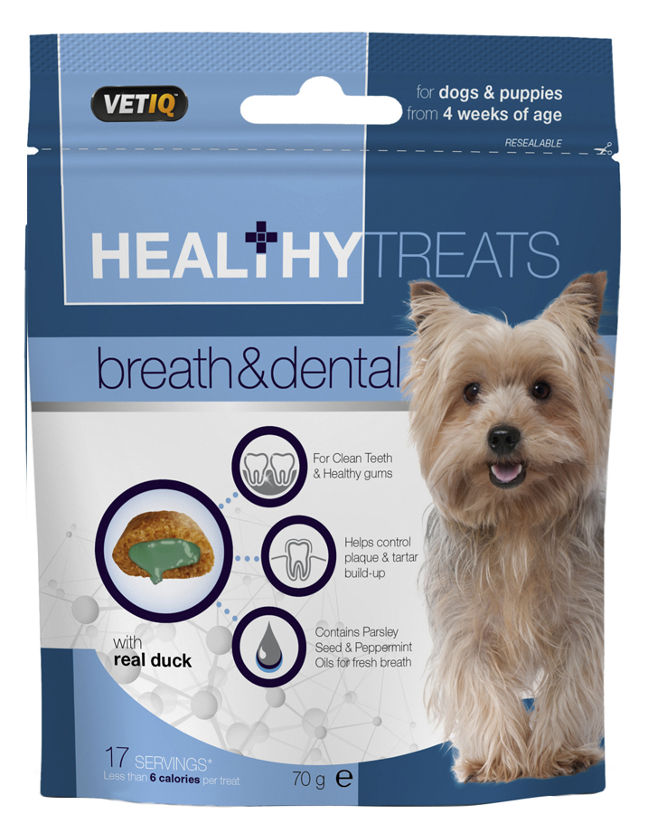 VetIQ Healthy Treats Breath & Dental For Dogs & Puppies