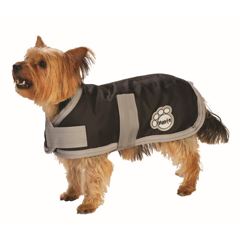 Masta Black Waterproof Nylon Dog Coat