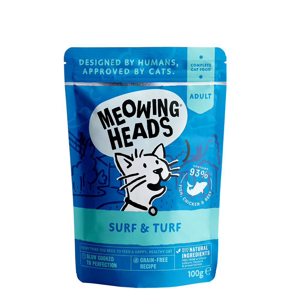 Meowing Heads Surf & Turf
