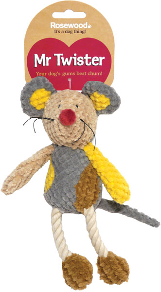 Mister Twister Molly Mouse Dog Toy