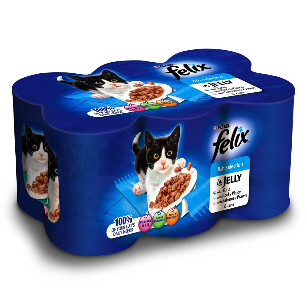 Felix Mixed Selection Chunks in Jelly Canned Cat Food