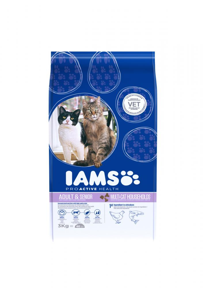 Iams Proactive Health Adult Multi-Cat Salmon & Chicken Cat Food