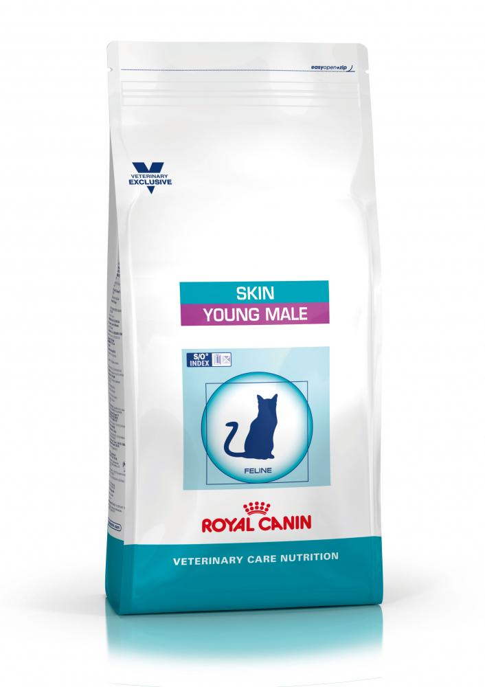 Royal Canin Feline Vet Care Nutrition Neutered Young Male Skin Cat Food