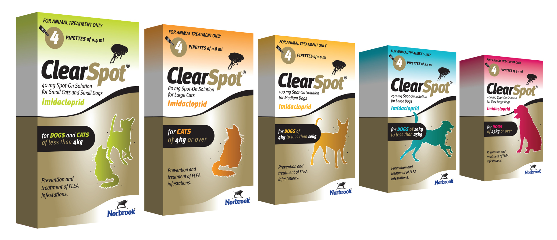 Norbrook ClearSpot Spot-On Flea Treatment for Dogs & Cats