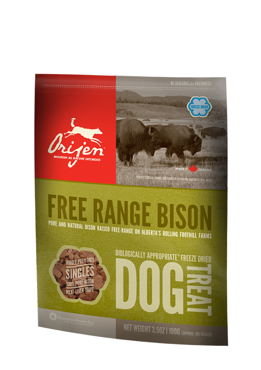 Orijen Free Range Bison Freeze Dried Dog Treats