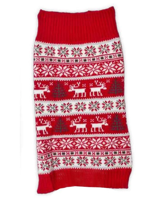 Pet Brands Reindeer & Christmas Tree Festive Jumper for Dogs