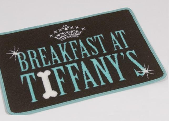 Pet Rebellion Breakfast At Tiffany's Dog Placemat