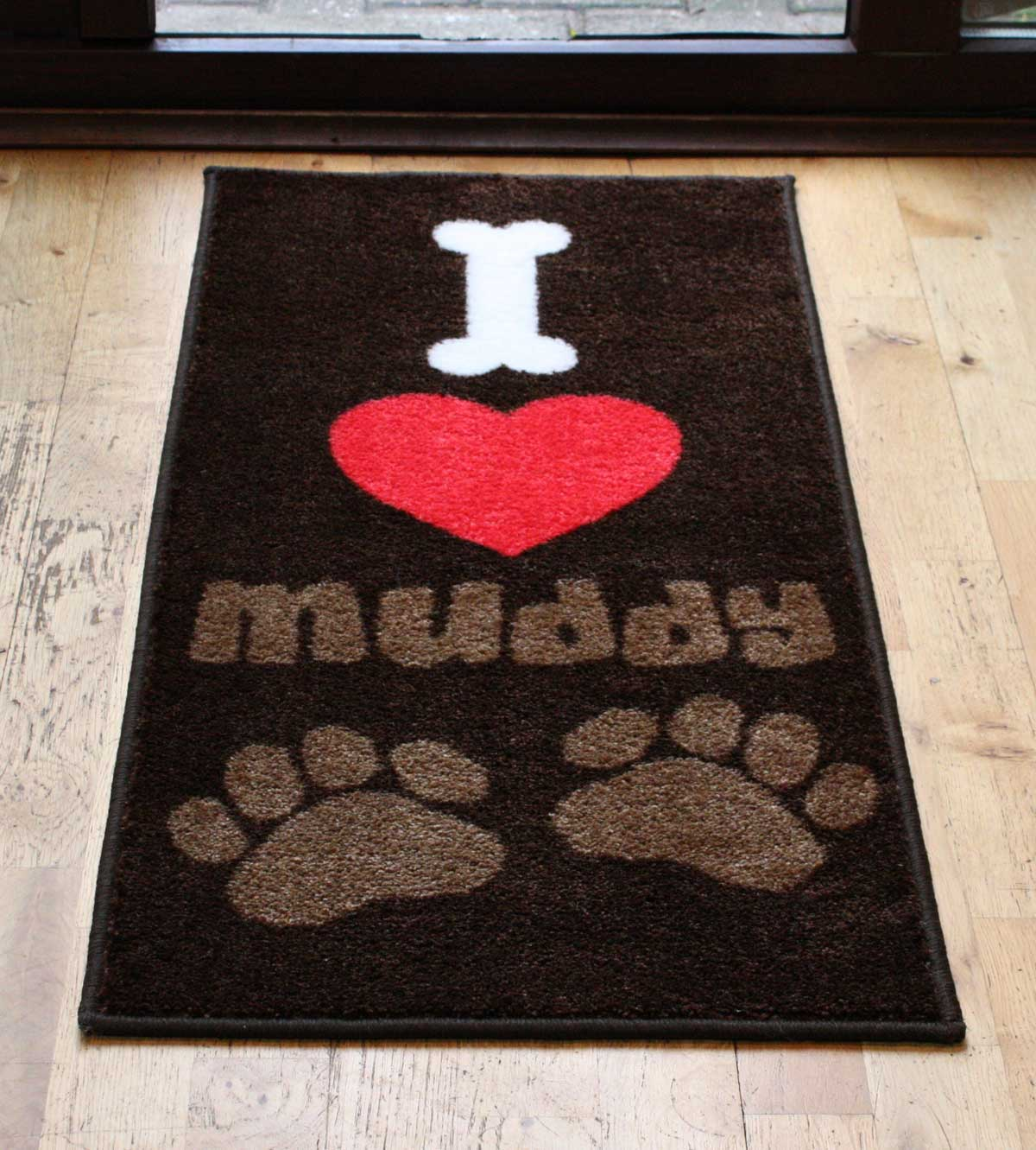 Pet Rebellion I Love Muddy Paws Door Mat