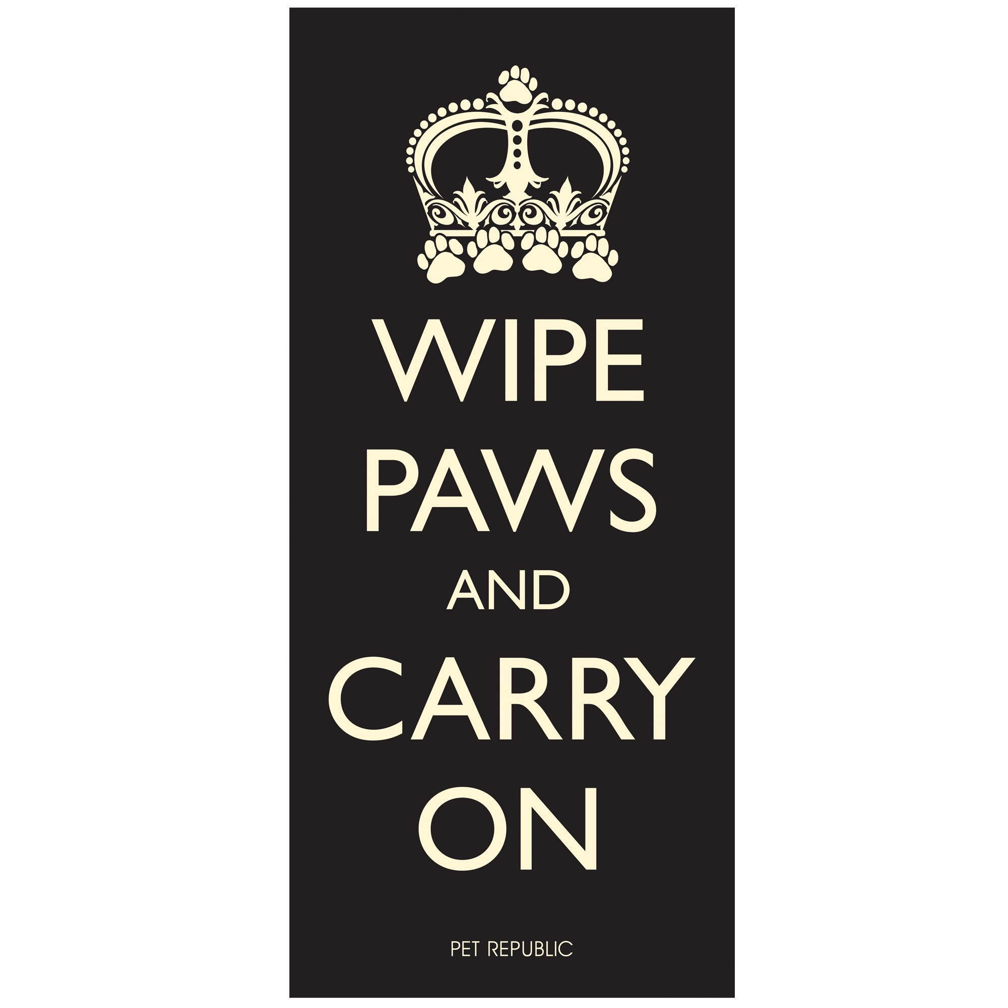 Pet Rebellion Wipe Paws And Carry On Door Mat