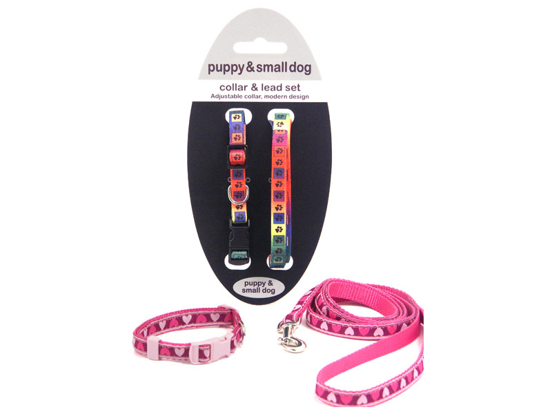 Rosewood Nylon Puppy Collar & Lead Set