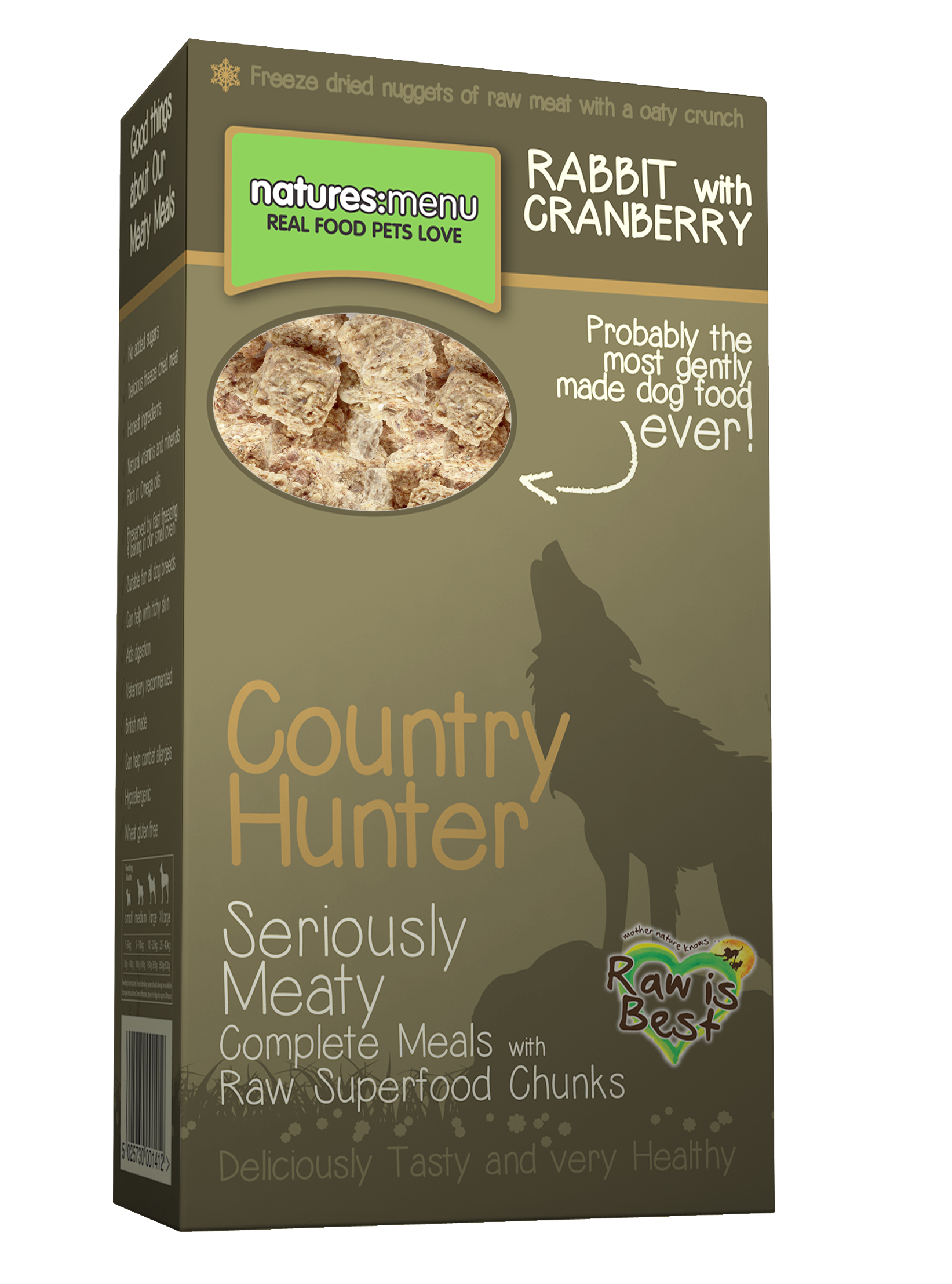 Natures Menu Country Hunter Freeze Dried Rabbit & Cranberry Dog Food