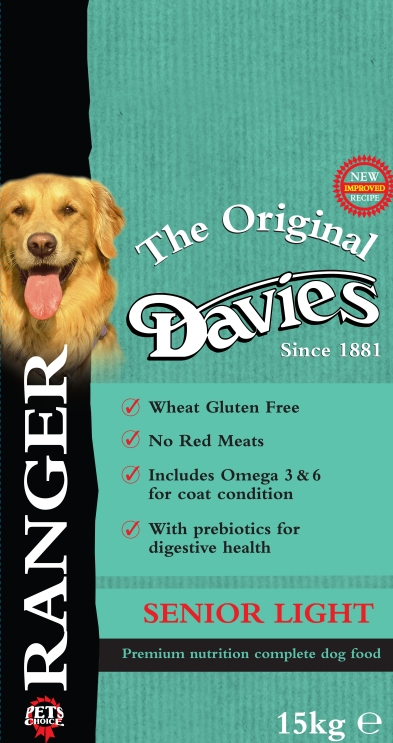 Davies Ranger Senior Light Chicken & Rice Dog Food