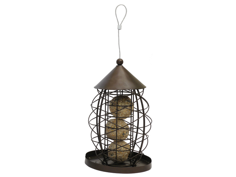 Rosewood Antique Lantern Fatball Bird Feeder