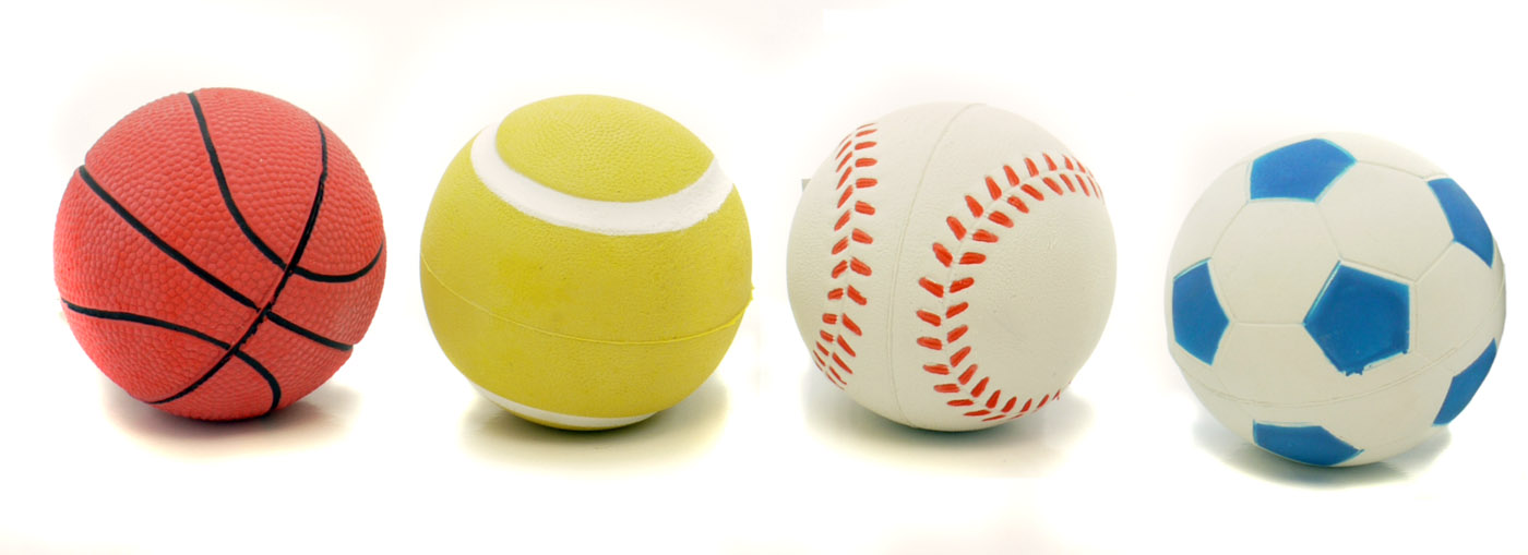 Toys For Balls : Rosewood sports balls rubber toys for 🐶 dogs