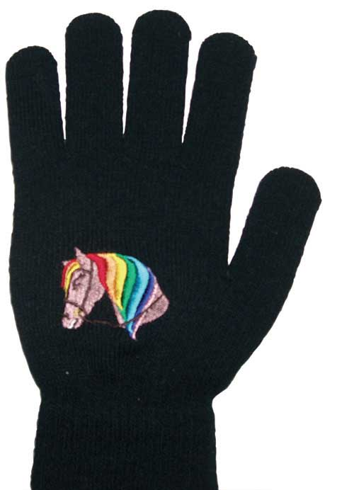 Saddlecraft Horse Head Pattern Magic Childs Gloves
