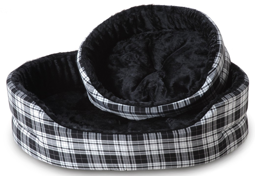Cosipet Superbed Drop Fronted Tartan Dog Bed
