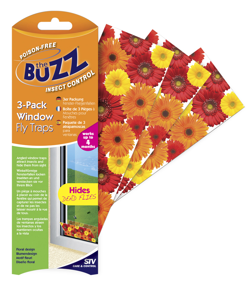 The Buzz Window Fly Traps