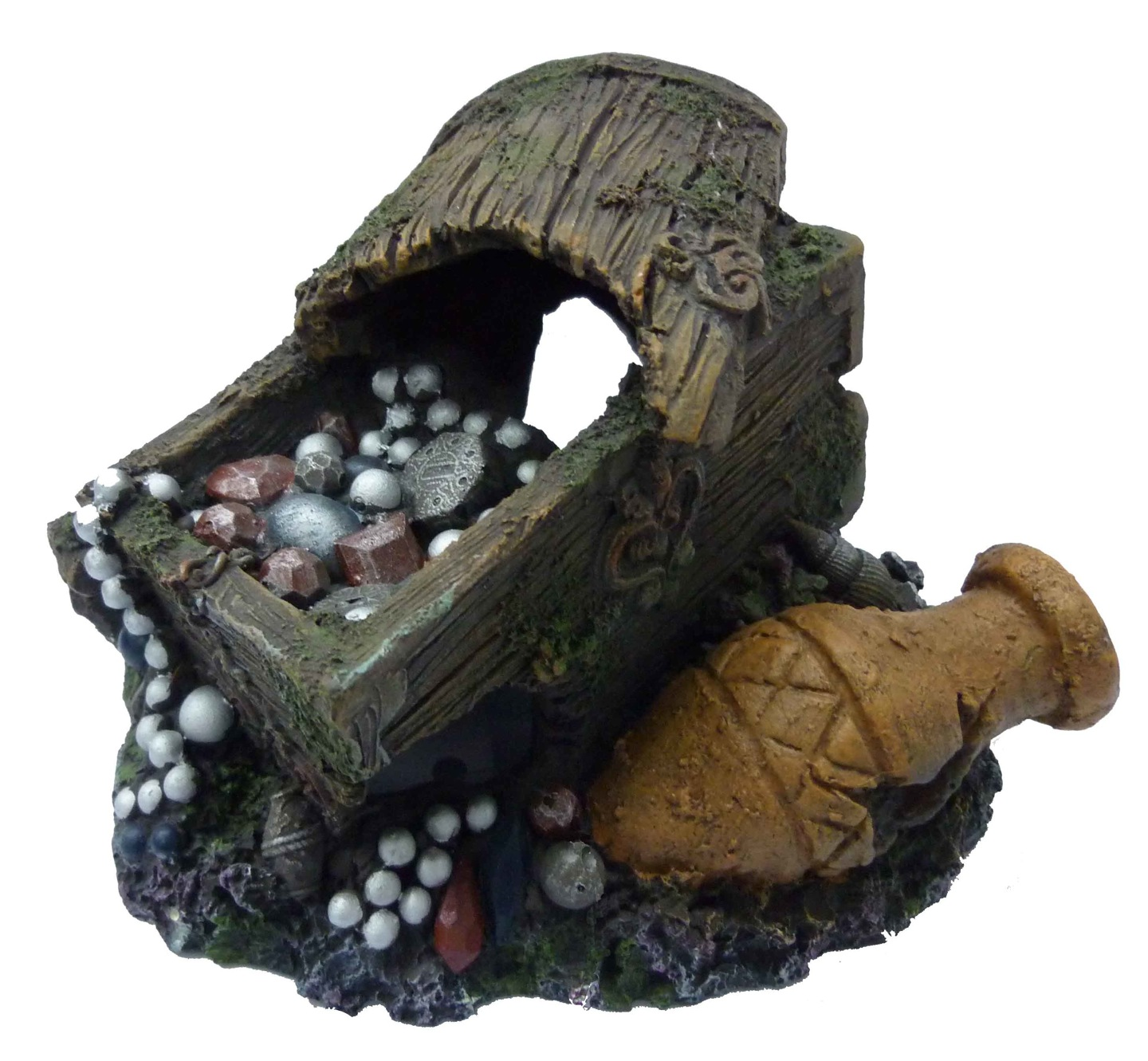 Supa Large Treasure Chest & Barrel Aquarium Ornament