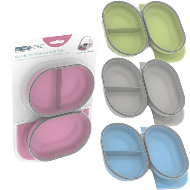 Surefeed Pet Feeder Mat & Bowl Set