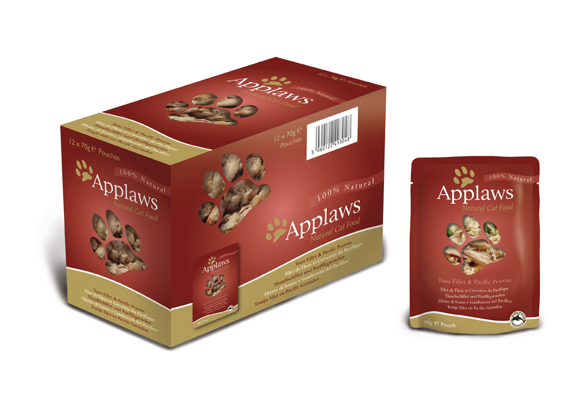Applaws Natural Pouches Tuna Fillet & Pacific Prawn Cat Food