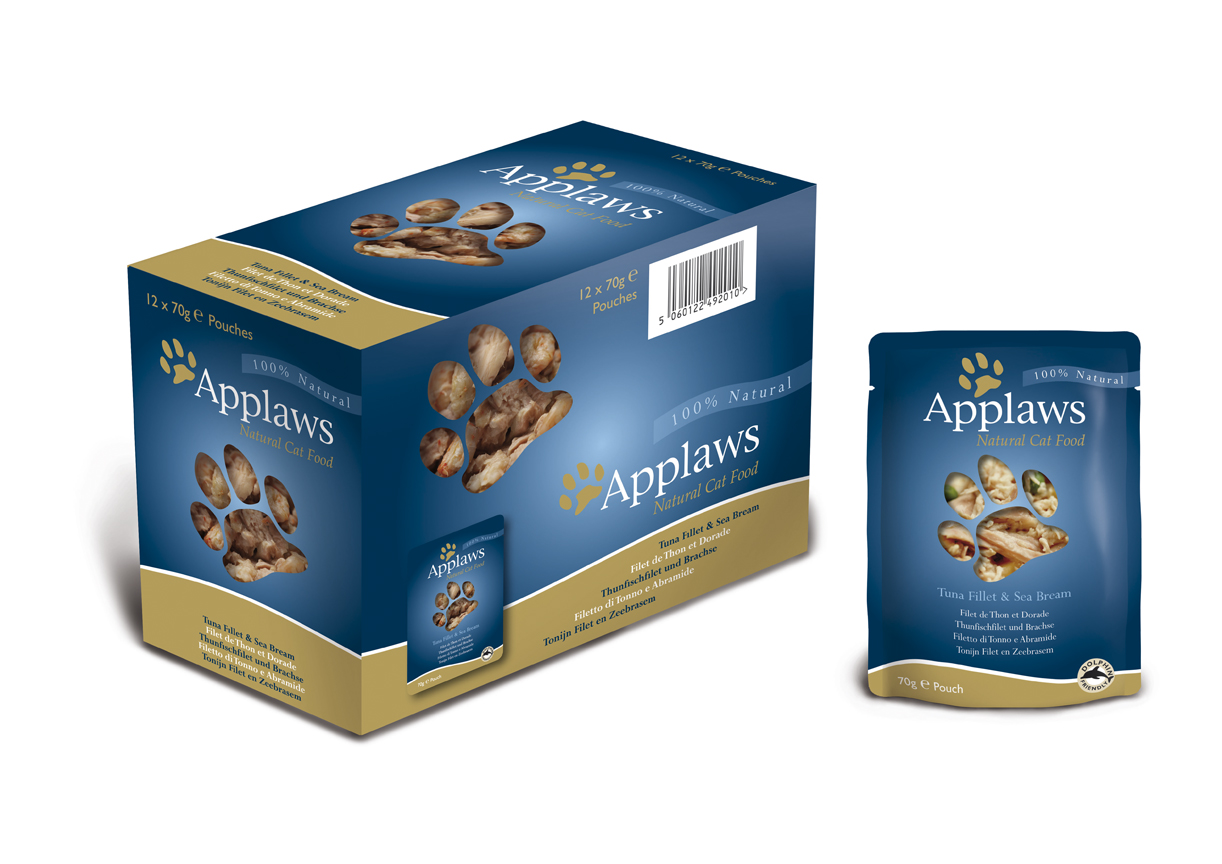 Applaws Natural Pouches Tuna Fillet with Sea Bream Cat Food