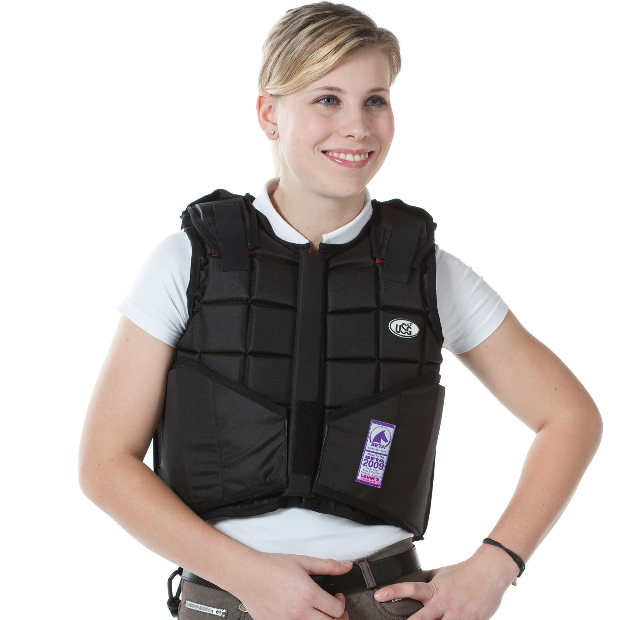 Childs Large Eco-Flexi Horse Riding Body Protector Black x Size USG