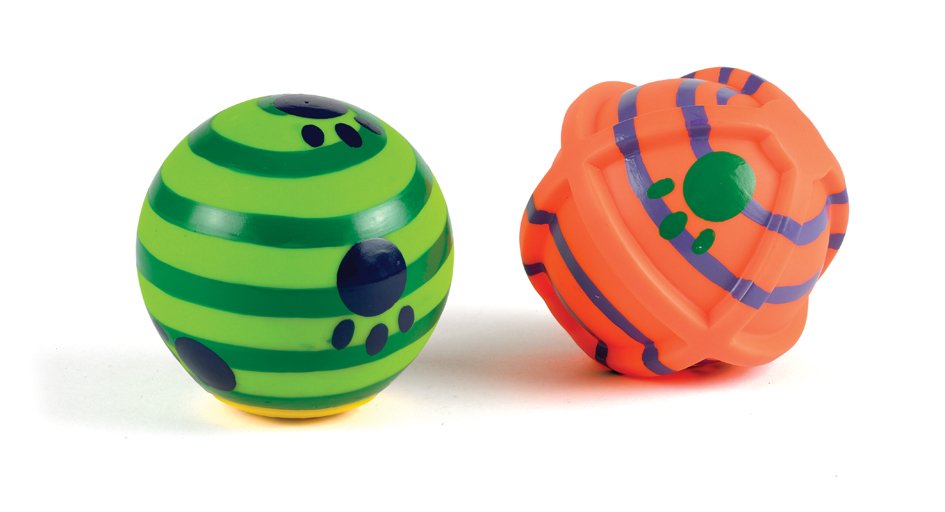 Classic Vinyl Rolling Ball Dog Toy