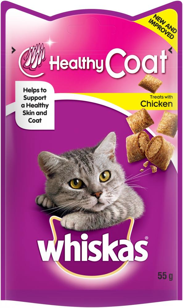 Whiskas Healthy Coat Treat Pouches