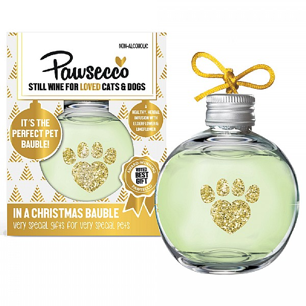 Woof & Brew Pawsecco Christmas Bauble