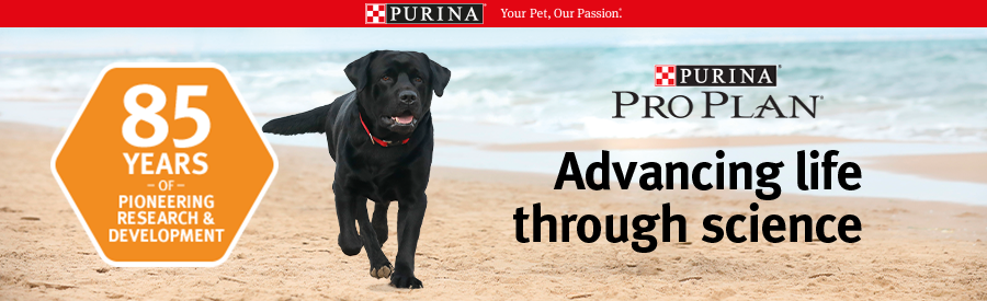 Purina Pro Plan for Dogs. Advancing life through science
