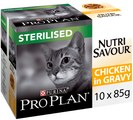 PRO PLAN NutriSavour Sterilised Wet Cat Food Chicken in Gravy