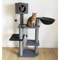 Catwalk Collection Charcoal Felt Cat Triple Tower
