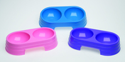 Companion Double Diner Plastic Pet Bowl