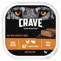 Crave Complete Adult Dog Food Tray in Loaf