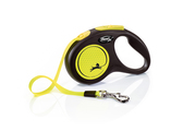 Flexi New Neon Tape Dog Lead 5m Yellow