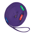 Kincade Two Tone Lunge Line with Circle Markers Purple/Black