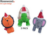 Rosewood Cupid & Comet Festive Squeaky Jungle Animals