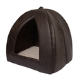 Rosewood Faux Leather Cat Pyramid
