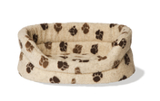Danish Design Slumber Brown Paw Dog Bed