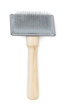 Ancol Heritage Wooden Handle Soft Slicker Brush