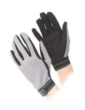 Aubrion Mesh Riding Gloves Grey