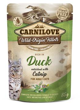 Carnilove Duck with Catnip Adult Cat Food Pouches