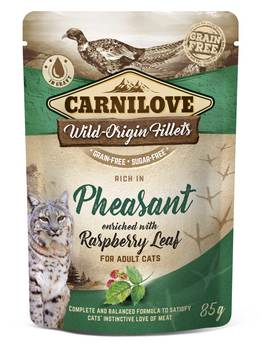 Carnilove Pheasant with Raspberry Leaves Adult Cat Food Pouches