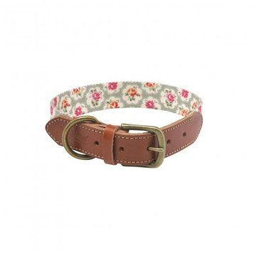 Cath Kidston Provence Rose Soft-touch Leather Collar with Printed Inner