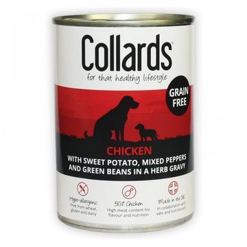 Collards Grain Free Adult Wet Dog Food Cans