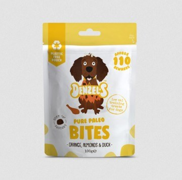 Denzel's Pure Paleo Bites For Dogs Orange Almond & Duck for Dogs