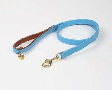 Digby & Fox Padded Leather Dog Lead Blue