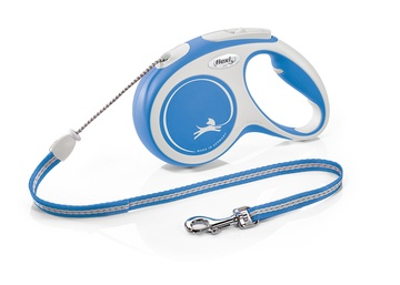 Flexi New Comfort Tape Dog Lead 5m Blue