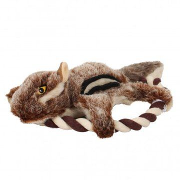 Forest Critters Plush Squirrel Frisbee Dog Toy